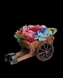 Charrette de fleurs - Décor
